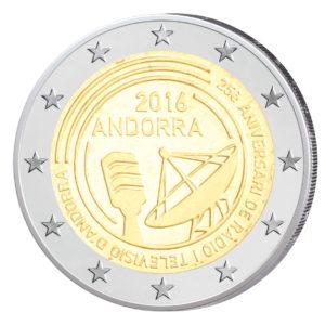 Andorra 2 Euro-Sondermünze 2016 – 25 Jahre öffentlich-rechtlicher Rundfunk in Andorra