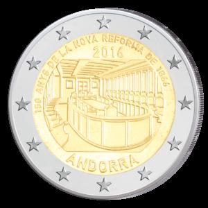 Andorra 2 Euro-Gedenkmünze 2016 – 150-jähriges Jubiläum der Neuen Reform von 1866