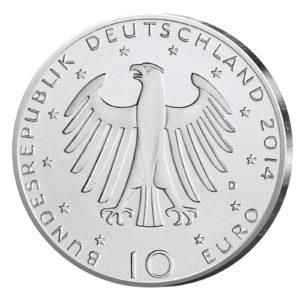 10 Euro Münzen aus Deutschland 2014