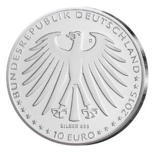10 Euro Münzen aus Deutschland 2015