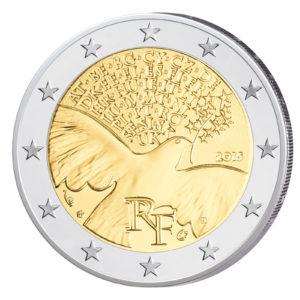 Frankreich 2 Euro-Sondermünze 2015 - 70 Jahre Frieden in Europa