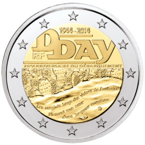 Frankreich 2 Euro-Sondermünze 2014 – 70. Jahrestag des D-Day