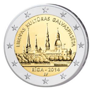 Lettland 2 Euro-Sondermünze 2014 – Riga, Europäische Kulturhauptstadt