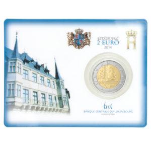 Luxemburg 2 Euro-Sondermünze 2014 – 175. Jahrestag der Unabhängigkeit