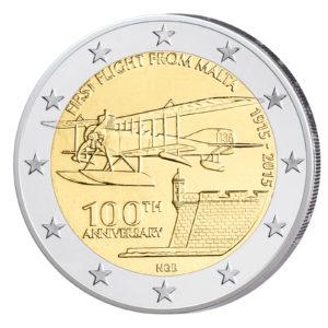 Malta 2 Euro-Sondermünze 2015 - 100. Jahrestag des ersten Flugs von Malta