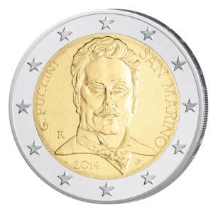San Marino 2 Euro-Sondermünze 2014 - 90. Todestag von Giacomo Puccini
