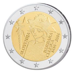 Slowenien 2 Euro-Sondermünze 2014 - 600 Jahre Krönung von Barbara Celjska