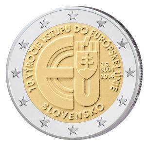 Slowakei 2 Euro-Gedenkmünze 2014 - 10 Jahre Beitritt EU