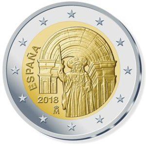 "Spanien 2 Euro-Gedenkmünze 2018 ""UNESCO Welterbe in Spanien – Santiago de Compostela"""