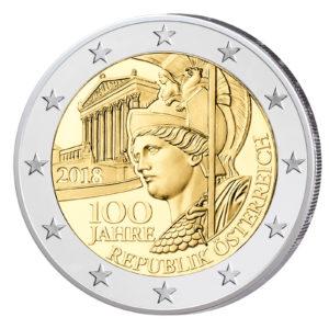 """Österreich 2 Euro-Gedenkmünze 2018 """"100 Jahre Republik Österreich"""""""