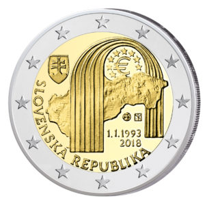 "Slowakei 2 Euro-Gedenkmünze 2018 ""25. Jahrestag der Republik Slowakei"""