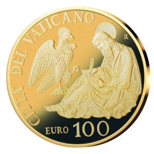 Vatikan 100 Euro 2017, 917er Gold, 30 Gramm, Ø 35mm, PP, Auflage: 799