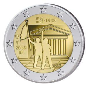"""Belgien 2 Euro-Gedenkmünze 2018 """"50. Jahrestag Mai 1968"""""""