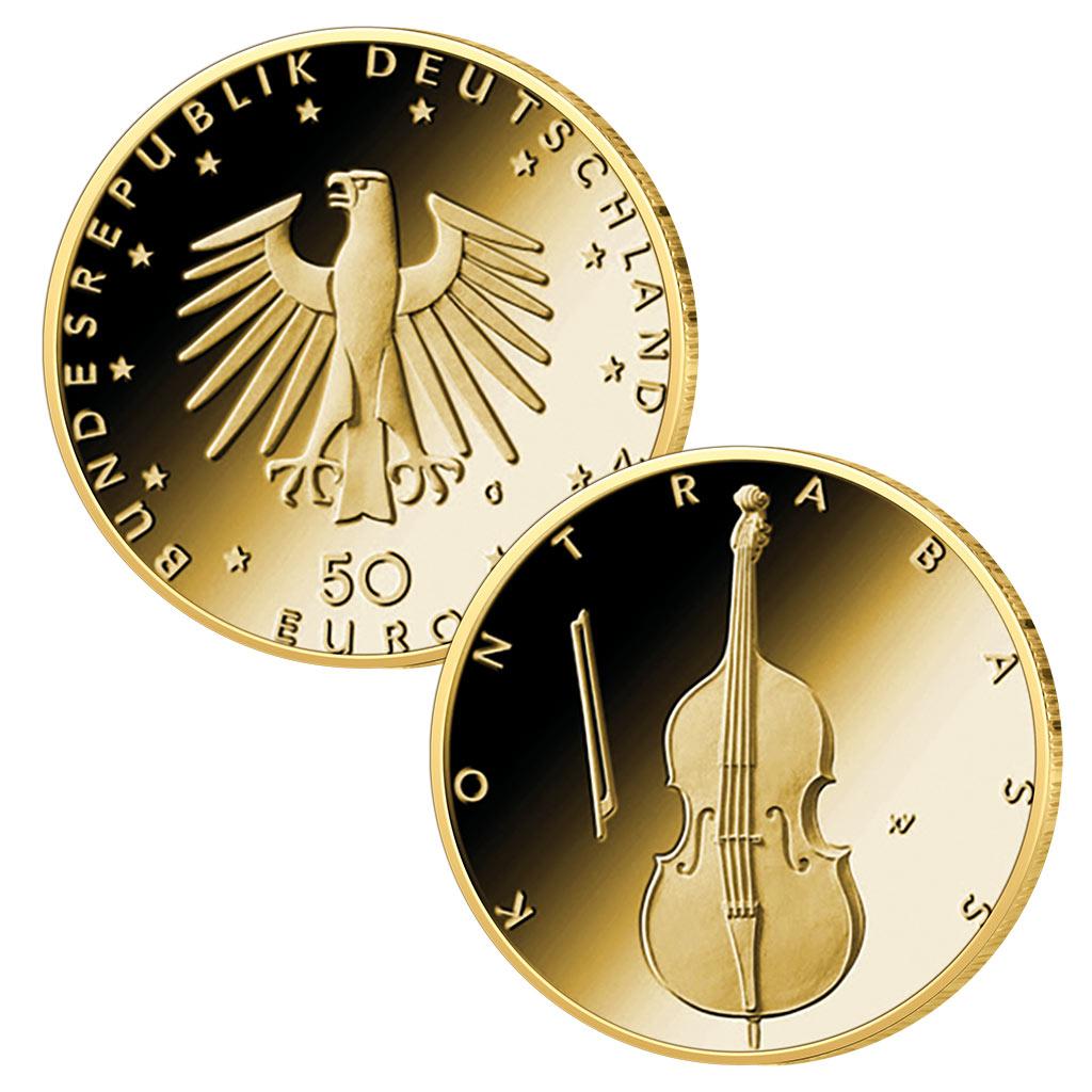 Brd 50 Euro Gold 2018 Bis 2022 Musikinstrumente Die Neue