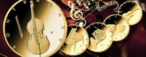 """BRD 50 Euro Gold 2018 bis 2022 """"Musikinstrumente"""" – die neue deutsche Gold-Serie"""