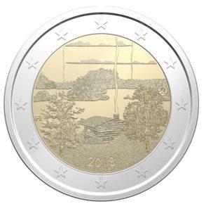 """Finnland 2 Euro-Gedenkmünze 2018 """"Finnische Sauna-Kultur"""""""
