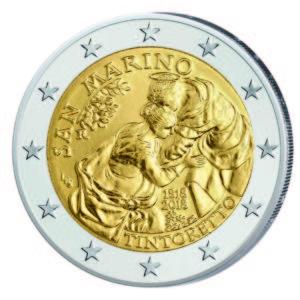 """San Marino 2 Euro-Gedenkmünze 2018 """"500. Geburtstag von Jacopo Tintoretto"""""""