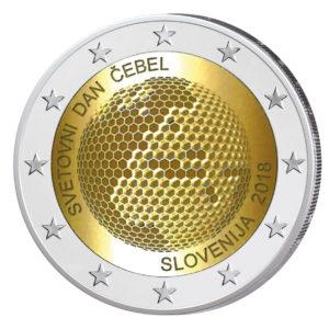 """Slowenien 2 Euro-Gedenkmünze 2018 """"Weltbienentag"""""""