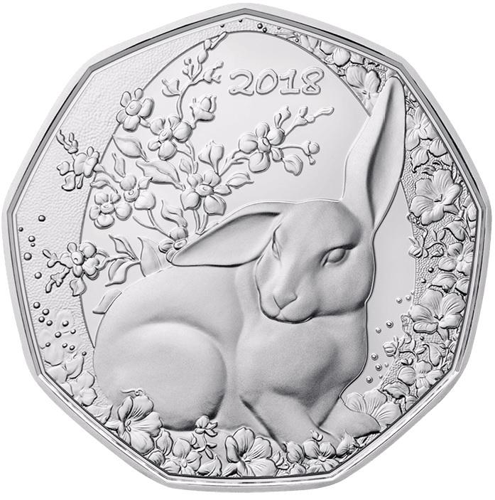 Der Osterhase österreich 5 Euro 2018 In Silber Und Kupfer Zu