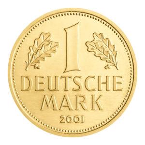Goldmark zum Abschied der Deutschen Mark
