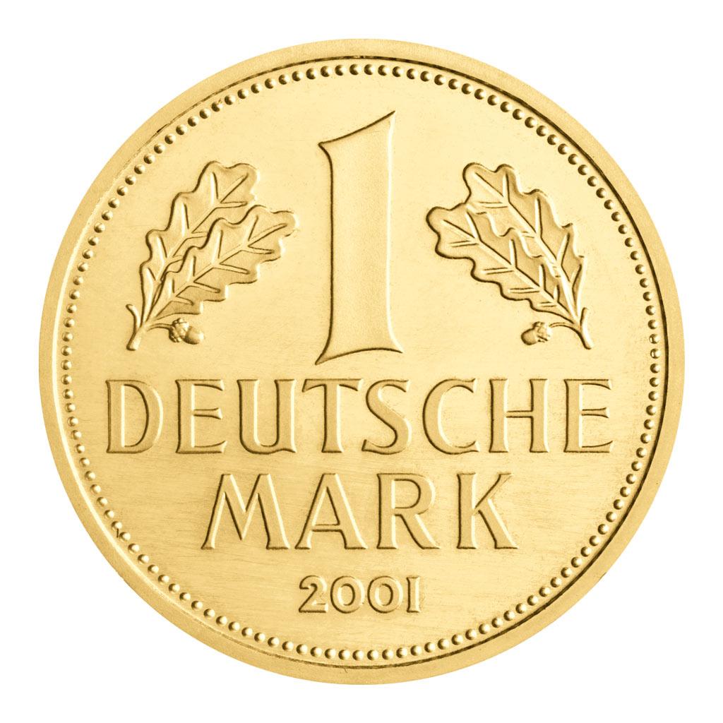 deutschlands goldm nzen brd 1 dm 2001 gold die erste. Black Bedroom Furniture Sets. Home Design Ideas