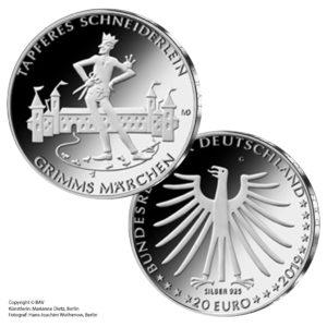 BRD 20 Euro 2019 Grimms Märchen – Das tapfere Schneiderlein. Copyright BVA