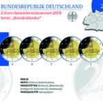 Ursprünglicher Entwurf: BRD 2 Euro-Gedenkmünzenset 2018 Spiegelglanz