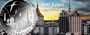 Jetzt ausgegeben: BRD 20 Euro 2018 800 Jahre Hansestadt Rostock