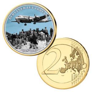 """2 Euro mit Farbmotiv """"70 Jahre Berliner Luftbrücke"""""""