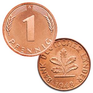 BRD 1 Pfennig 1948