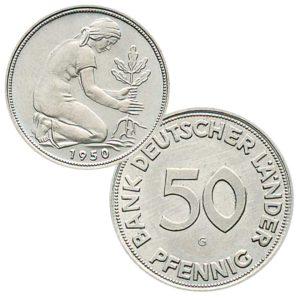 50 Pfennig 1950 Bank Deutscher Länder