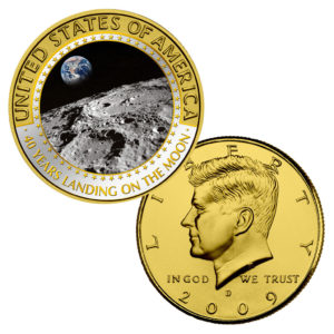 "USA Half Dollar Kennedy mit Farbmotiv ""Earth_Rise"""