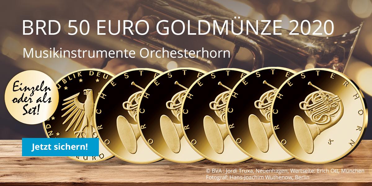 50 Euro Goldmünze 2020 Deutschland Orchesterhorn