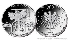 20 Euro Silbermünze 2021 BRD Frau Holle