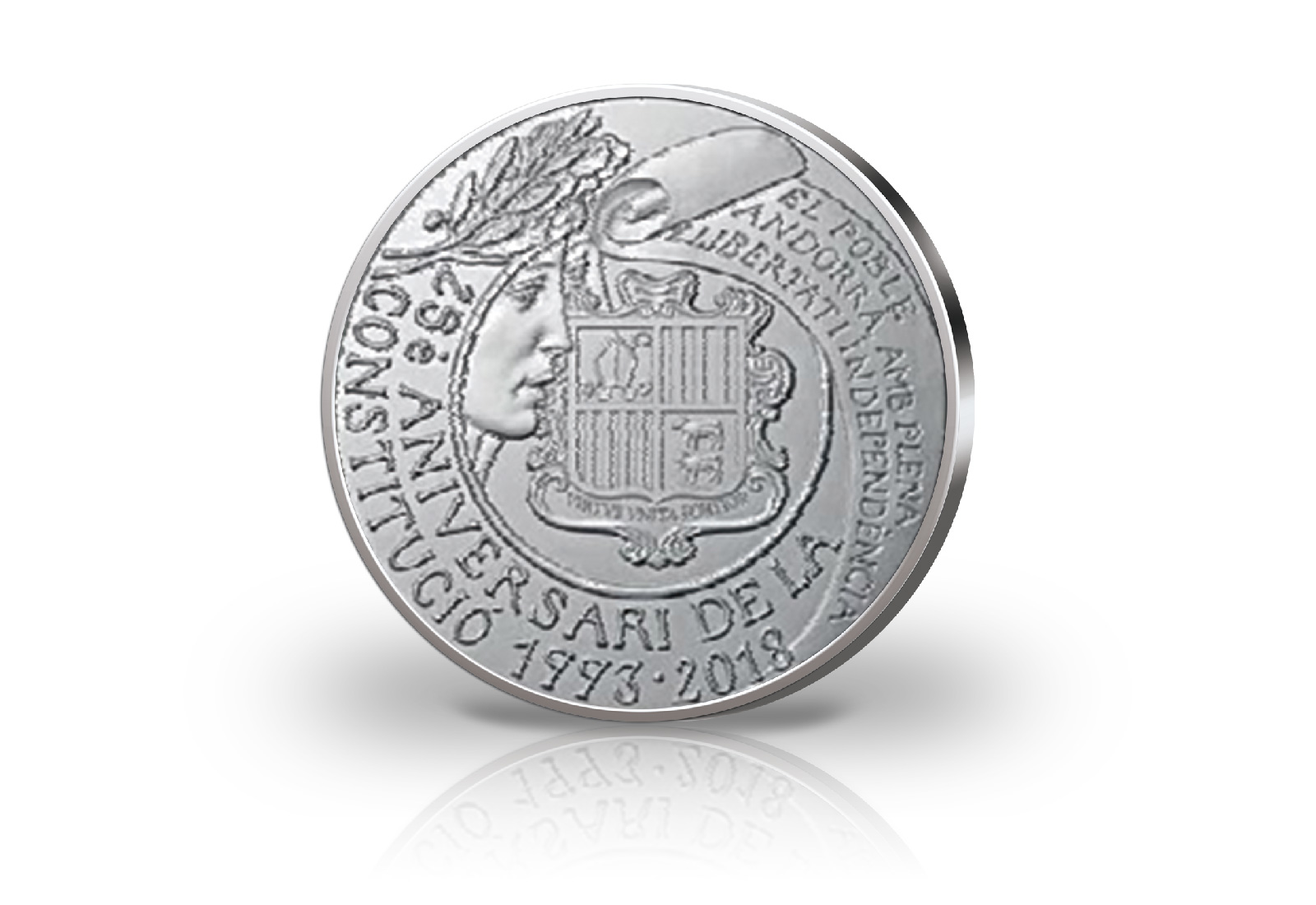 Andorra 5 Euro Silbermünze 2018 25 Jahre Verfassung Andorra Euro