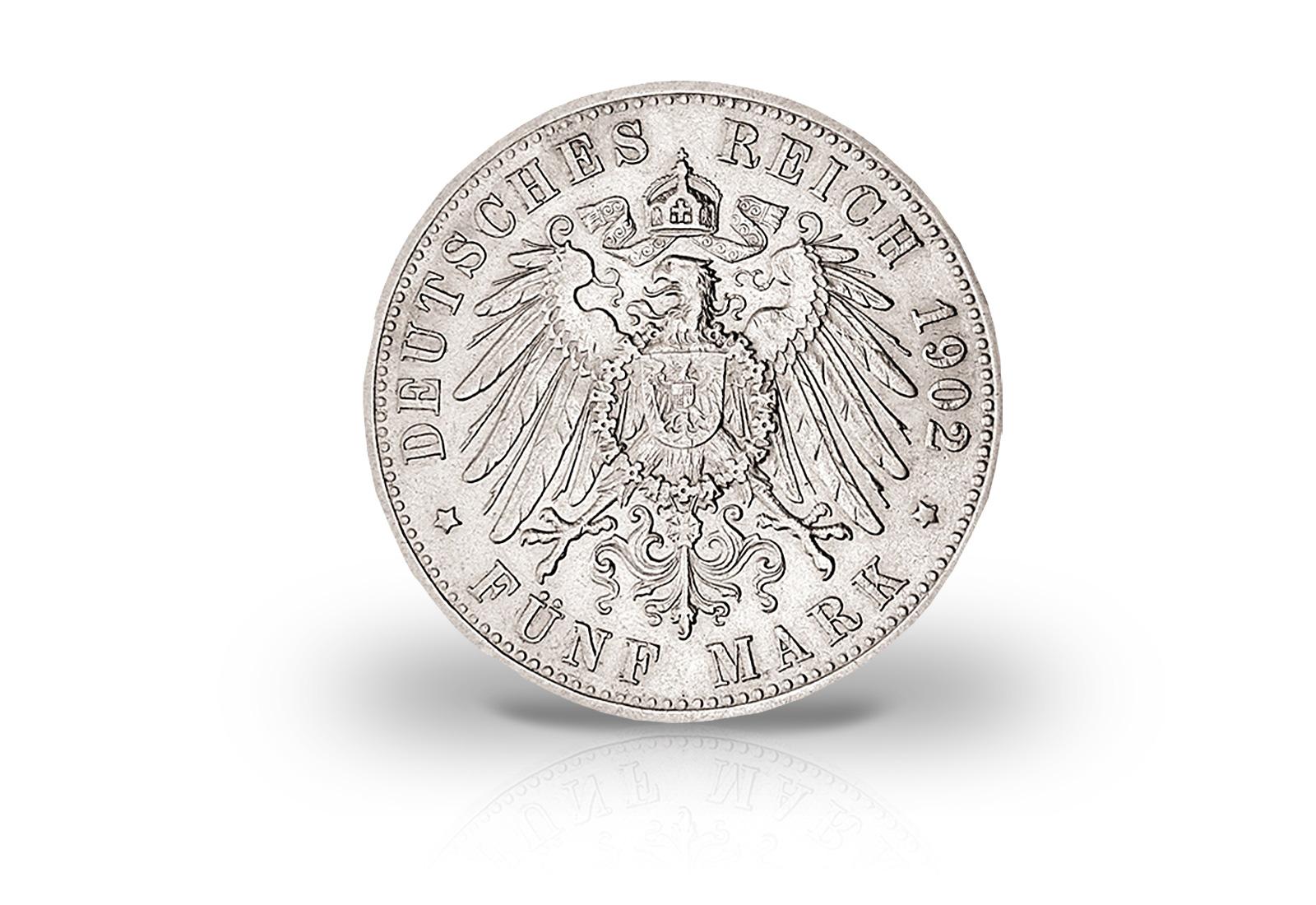 Kaiserreich Silbermünze 5 Mark König Wilhelm Ii Von Württemberg