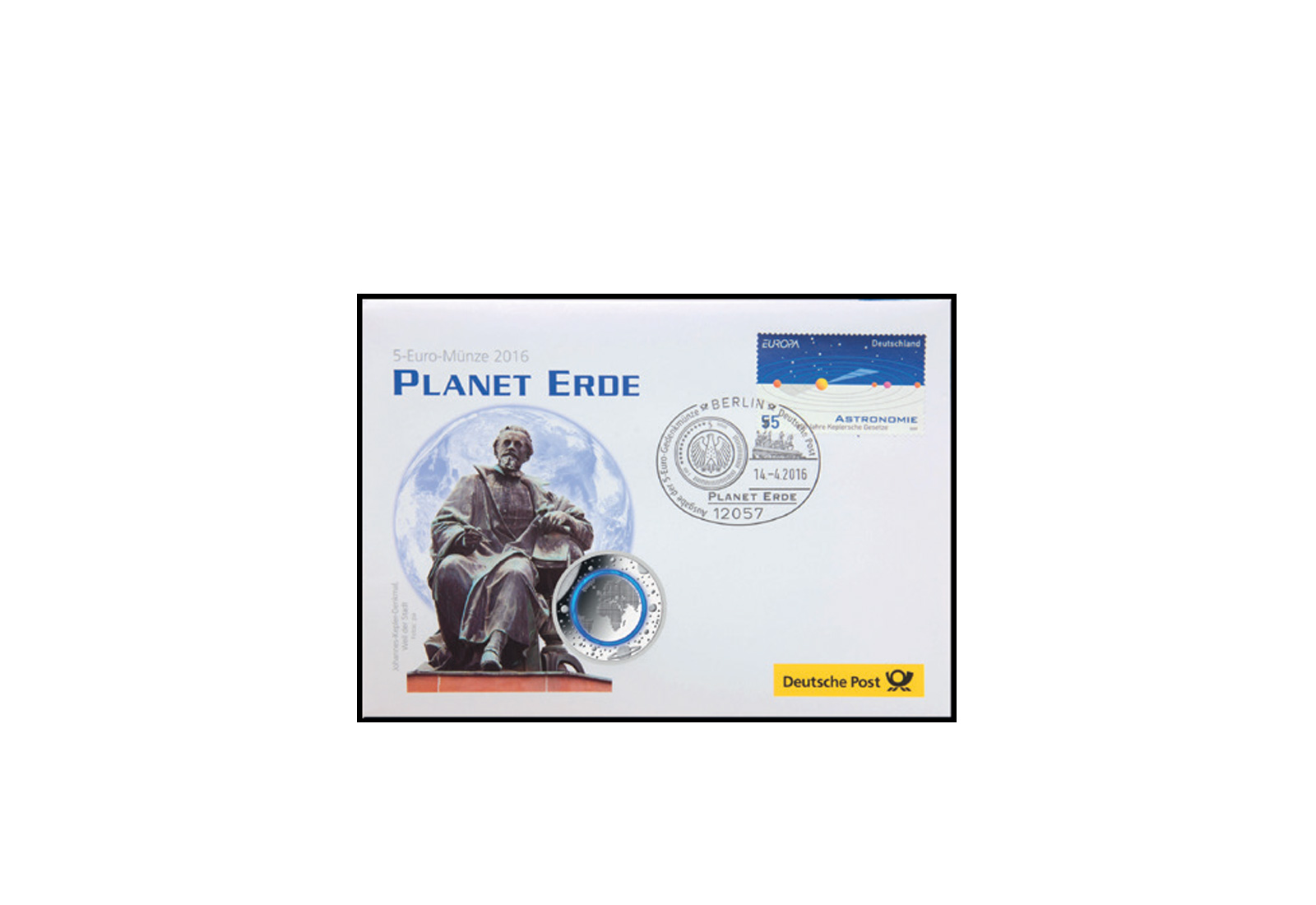 numisbrief planet erde 2016 kuvert leer deutsche post ebay. Black Bedroom Furniture Sets. Home Design Ideas