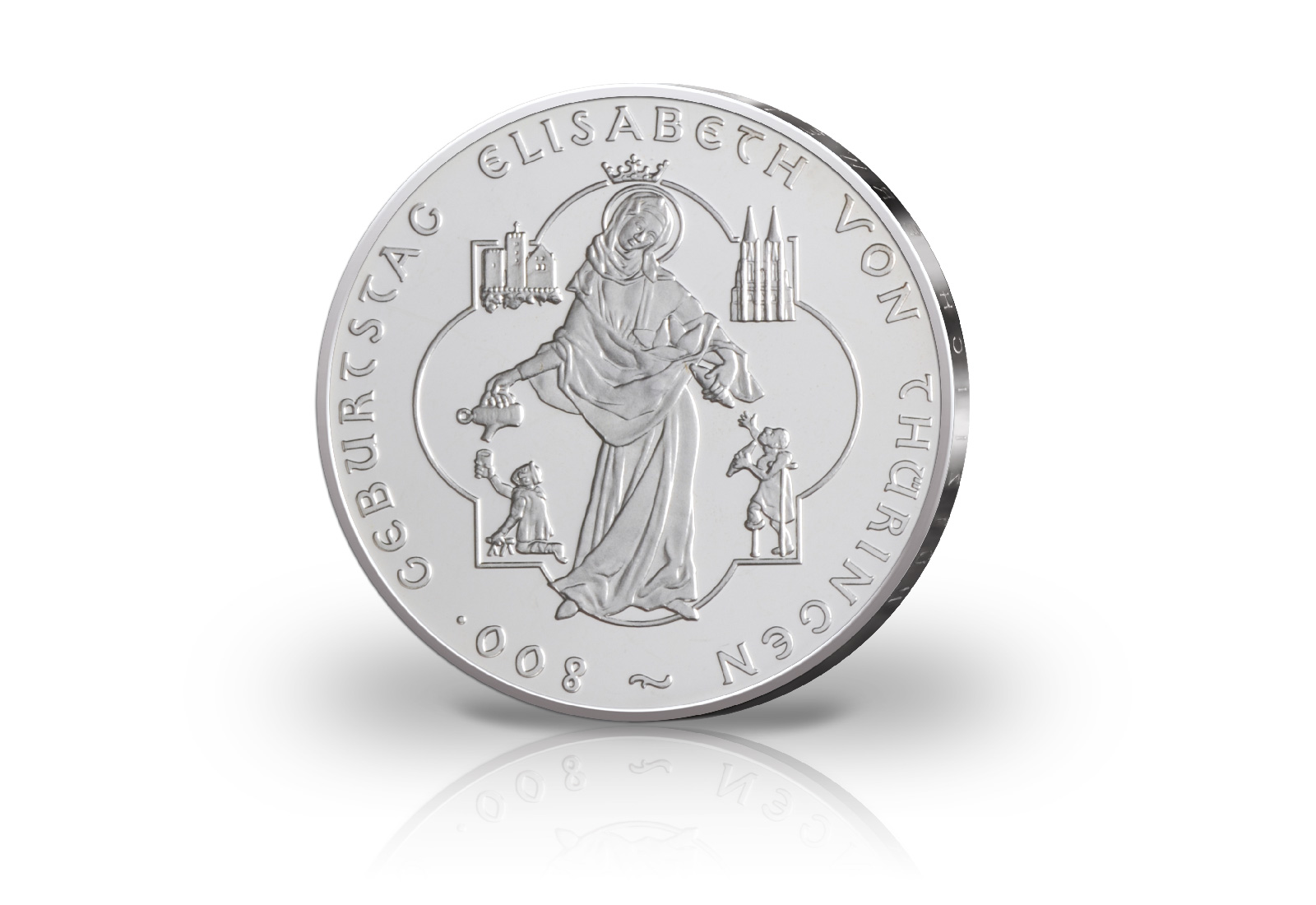 Brd 10 Euro 2007 Elisabeth Von Thüringen Bankfrisch 10 Euro Silber