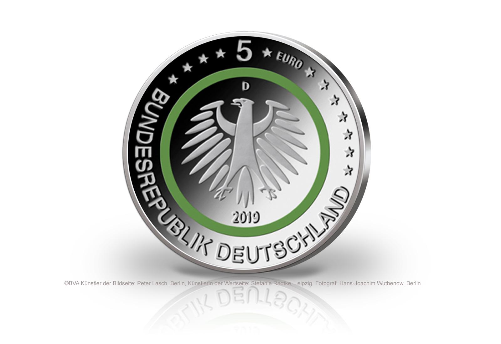 5 euro 2019 gem ssigte zone feldhase deutschland st. Black Bedroom Furniture Sets. Home Design Ideas