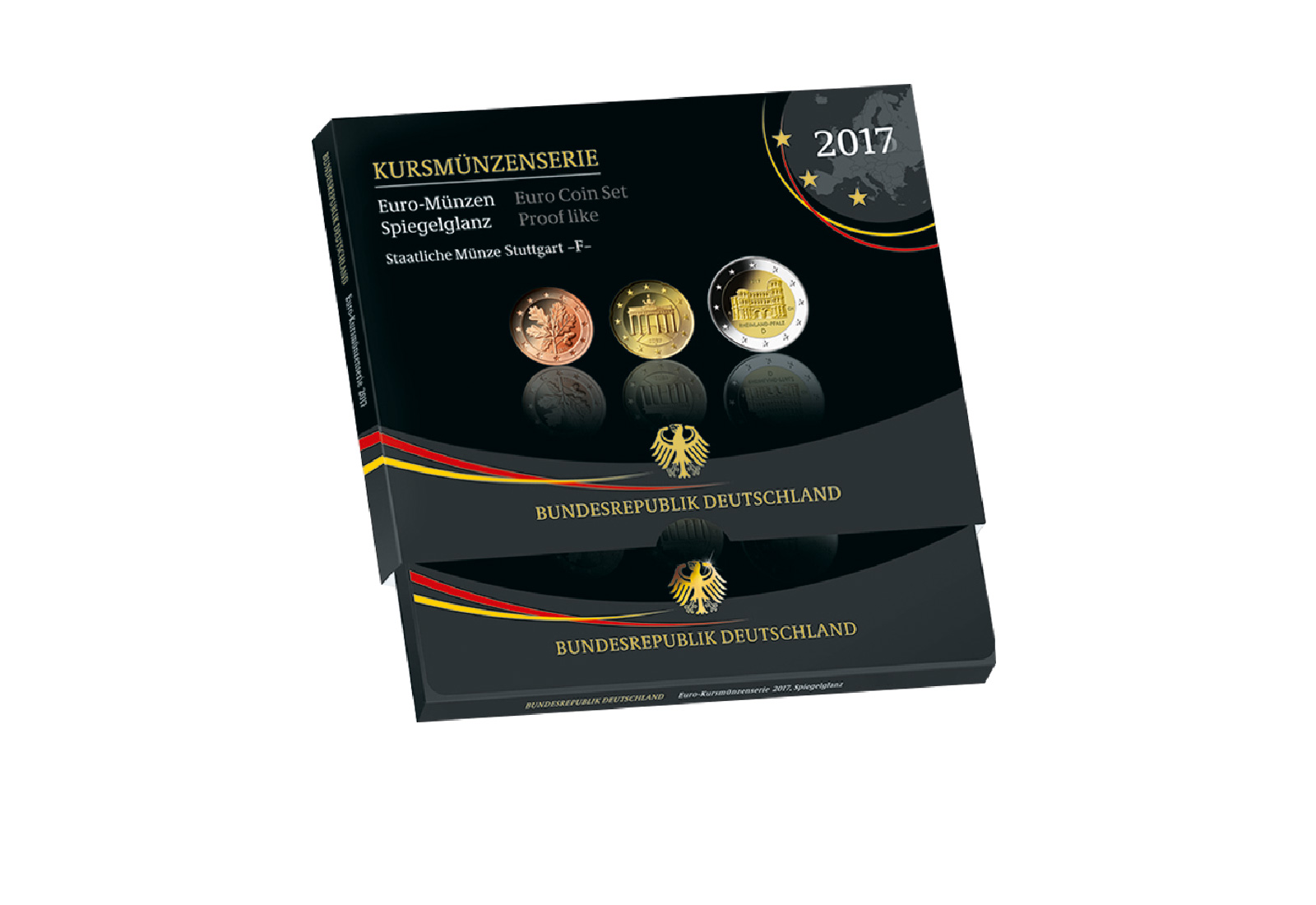 Brd Kursmünzensatz 2017 Prägestätte F Stuttgart Pp Euro