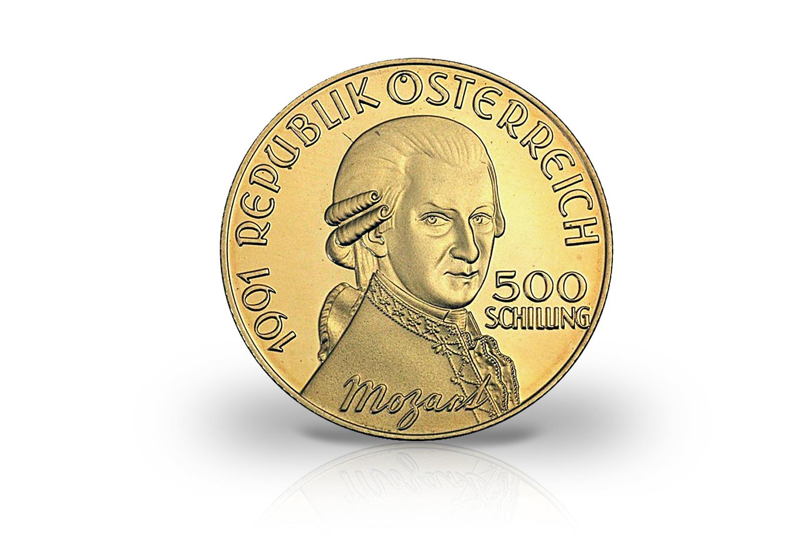 österreich 500 Schilling Goldmünze 1991 Don Giovanni