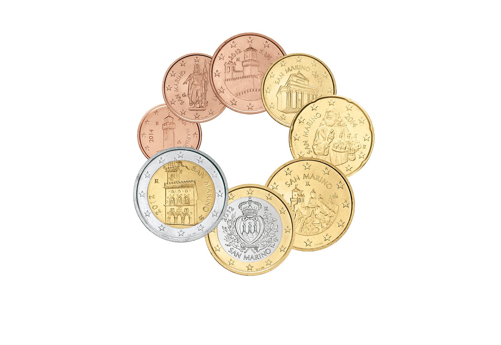 Eurosatz Jahrgang unserer Wahl San Marino
