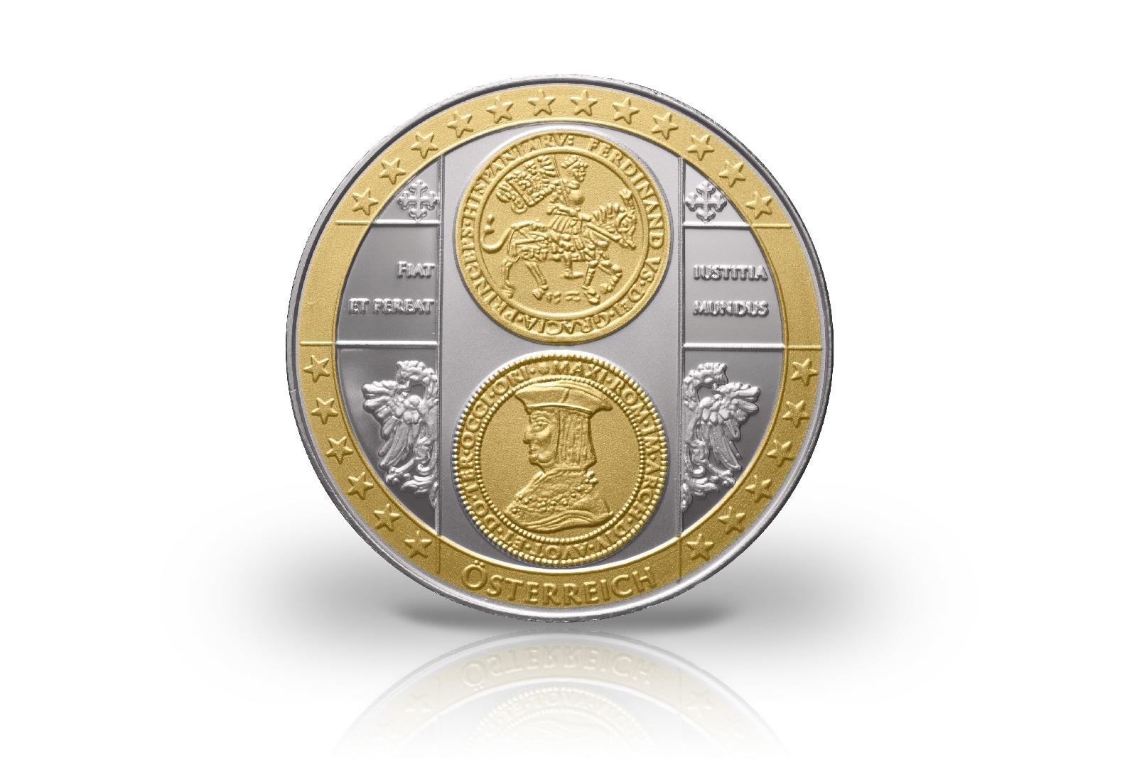 Erstabschlag Mit 24 Karat Goldauflage Mit Motiv österreich 10