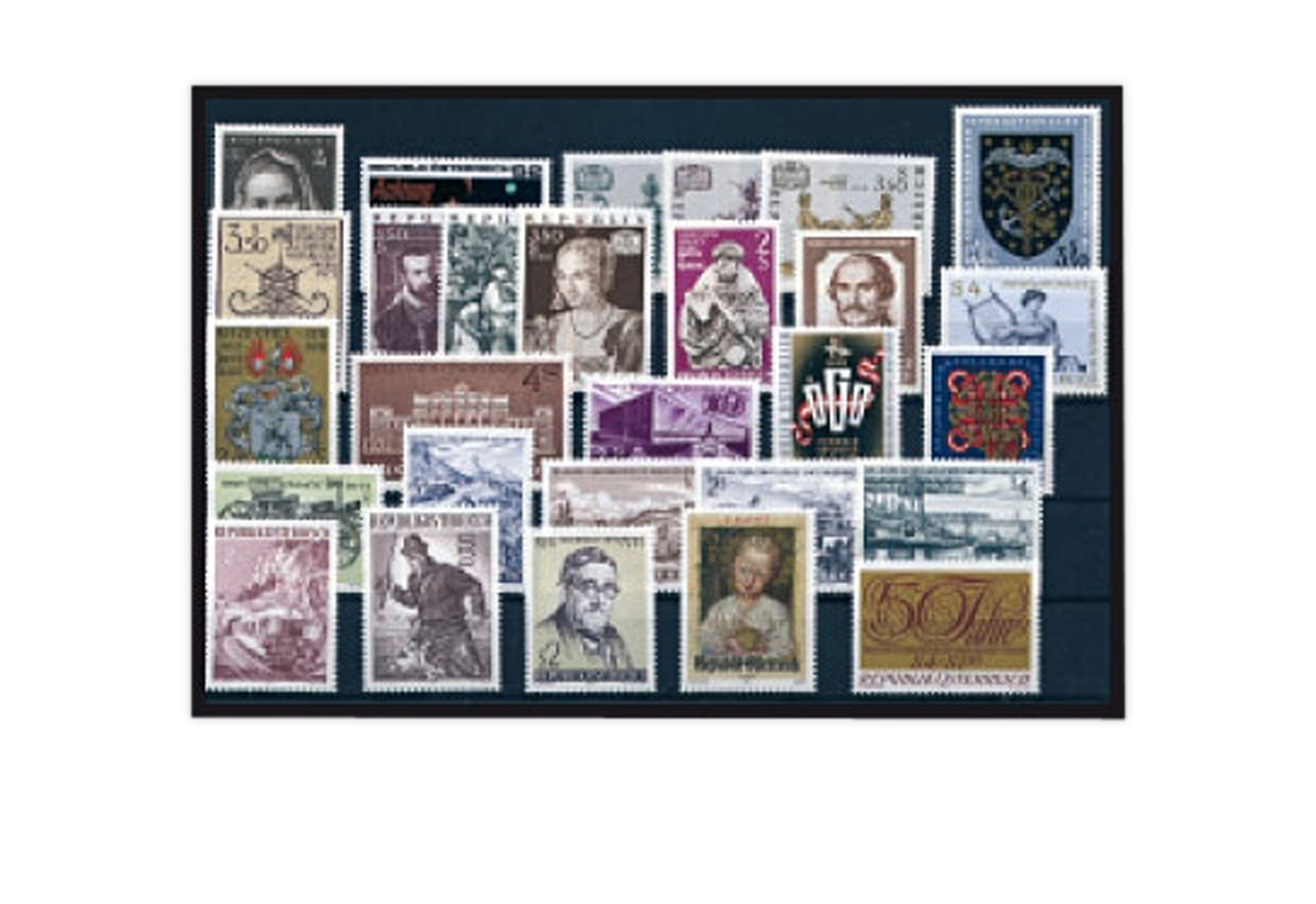 1353-1380 Postfrisch Österreich Jahrgang 1971 Michel Nr Österreich 1970-1979