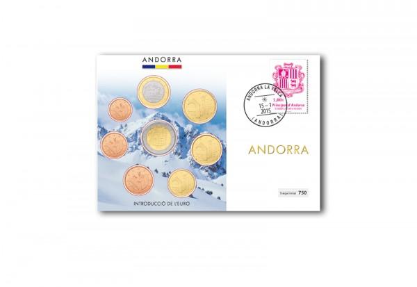 Numisbrief Andorra Euro-Satz 2014