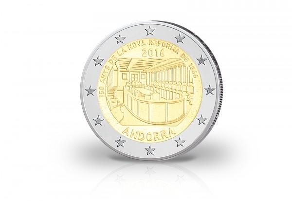 Andorra 2 Euro Gedenkmünze 2016 150 Jahre Reform Andorras St