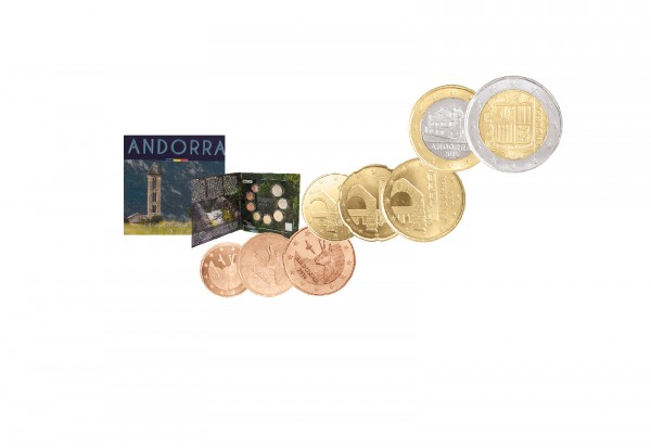 Andorra Kursmünzensatz 2016 St Euro Kursmünzensätze Euro Münzen