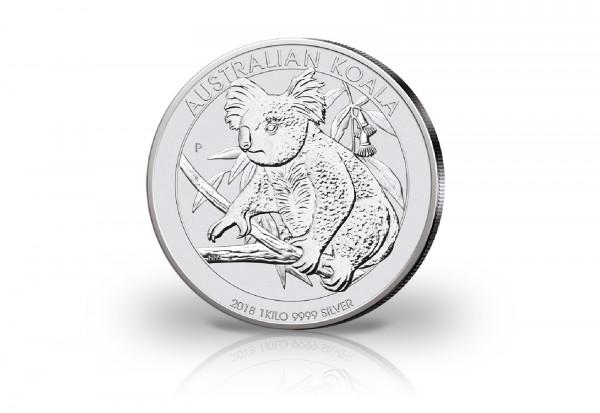 Koala 1 Kilogramm Silber 2018 Australien Münzen Silber