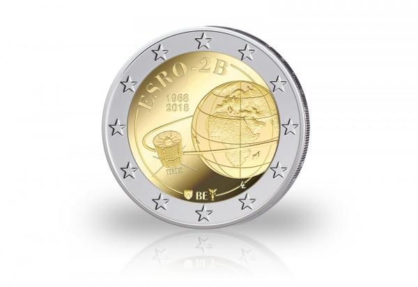 2 Euro 2018 Belgien 50 Jahre Start Satellit ESRO in Coincard st