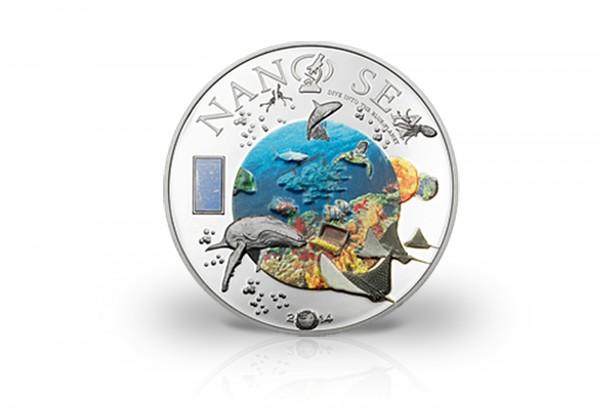 Cook Islands 10 Dollars Silbermünze 2014 Tiefsee Mit Nano Chip Plus